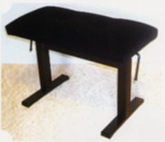 Hydraulische pianobank zwart