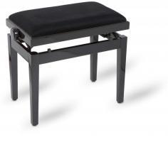 Pianobank zwart hoogglans