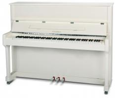Feurich 122 piano wit met chroom