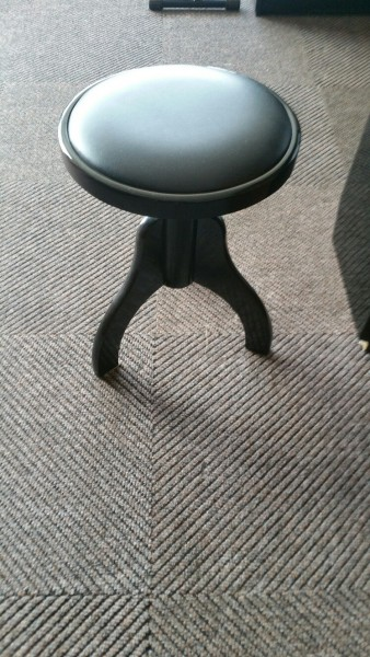 Pianokruk zwart hoogglans